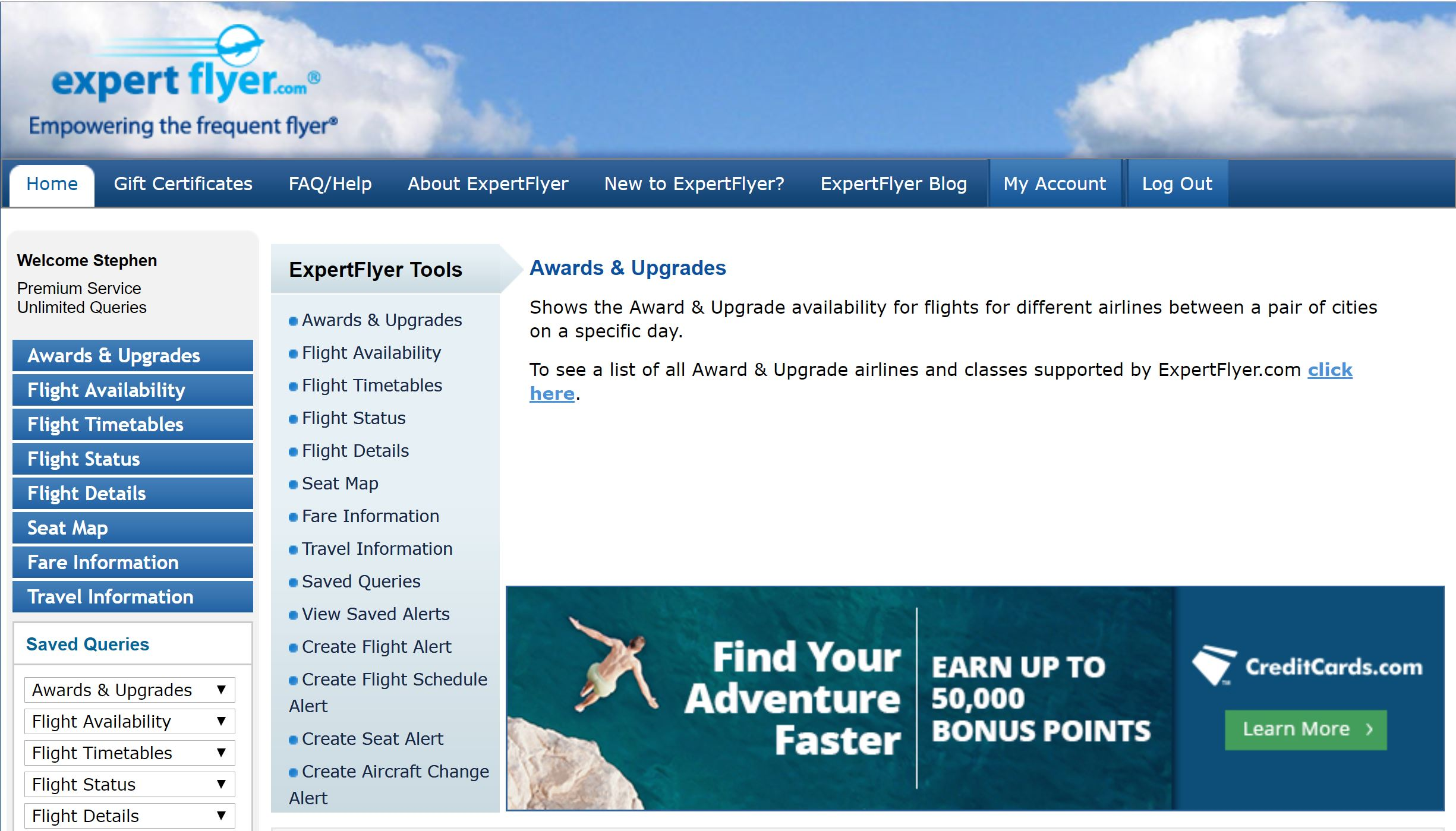ExpertFlyer - How To Search for Award Space & Upgrades [2019]