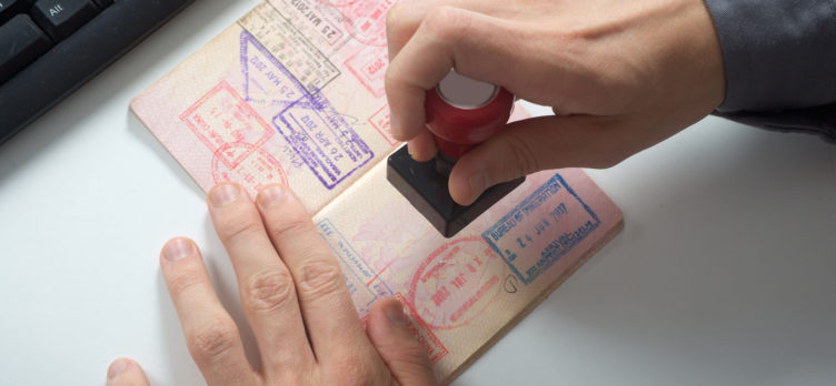 Passport Stamping at Customs