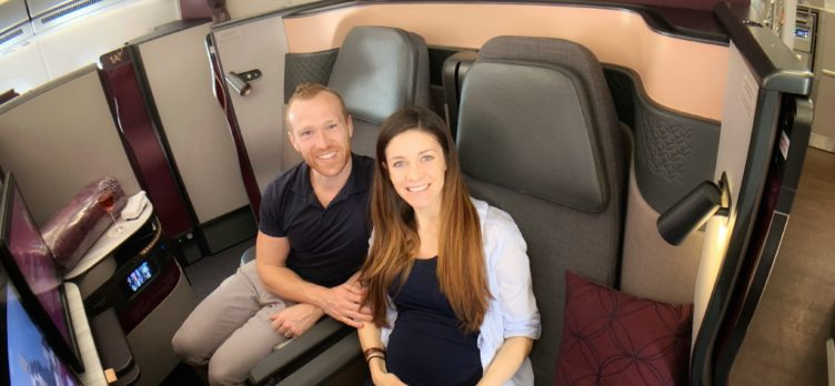 Qatar QSuites A350, Alex & Erin Miller of Upgraded Points