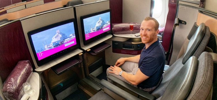 Qatar QSuites A350, DOH to MLE, Alex Miller of Upgraded Points