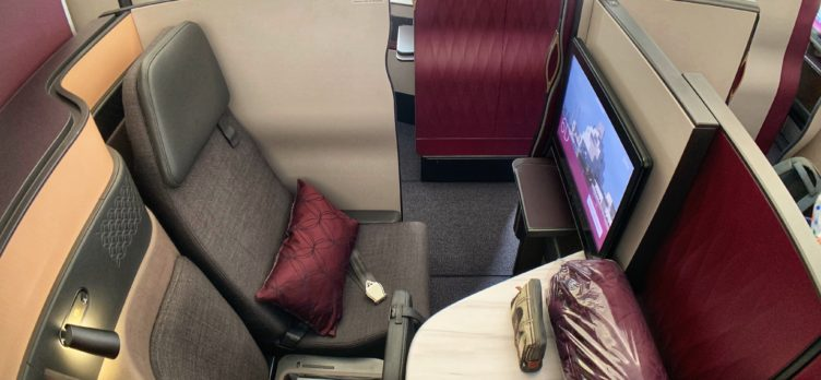 Qatar QSuites A350 Seat View
