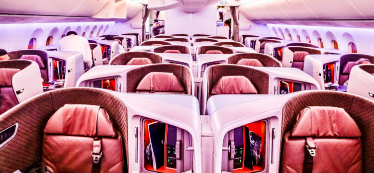 Singapore Airlines Boeing 787-10: Regional Business Class Cabin