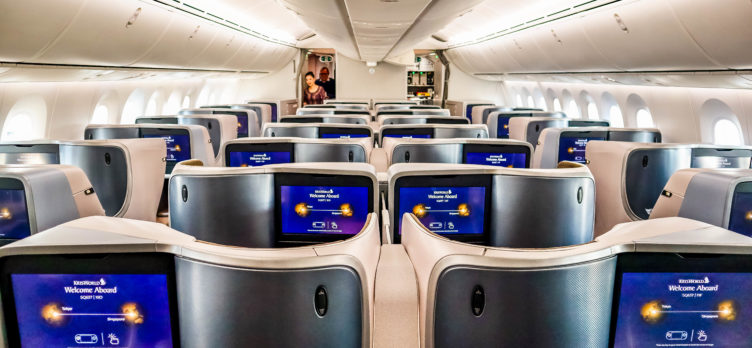 Singapore Airlines Boeing 787-10 Regional Business Class Cabin