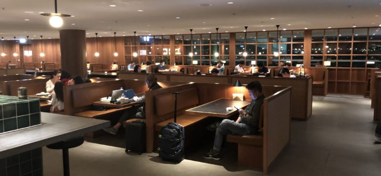 The Pier, Business at Hong Kong International Airport noodle bar seating continued
