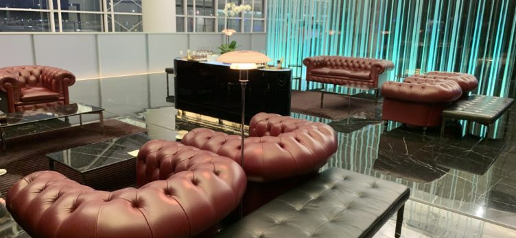 The Wing, First at Hong Kong International Airport champagne bar seating