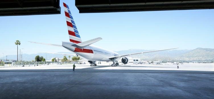AA Aircraft in Hangar