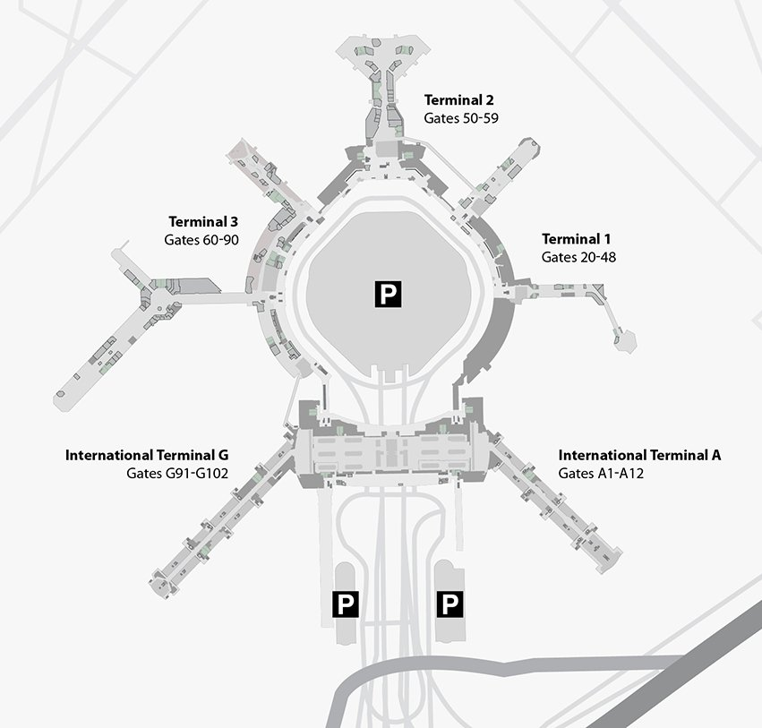 sfo map terminal 1 San Francisco International Airport Sfo Terminal Guide 2020 sfo map terminal 1