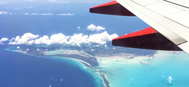 Southwest plane flying over DR