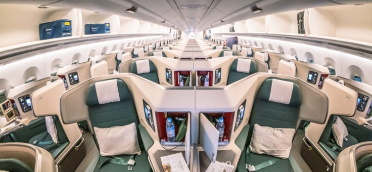 Greg Stone - Cathay Pacific Airbus A350-1000 Business Class Cabin Middle Seats