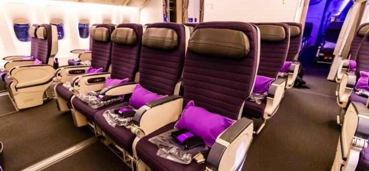 Virgin Australia Boeing 777 Premium Economy cabin