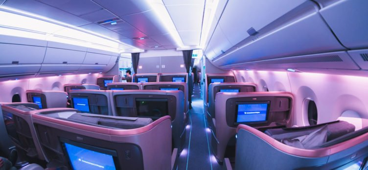 Singapore Airlines Airbus A350 Rear Business Class Cabin
