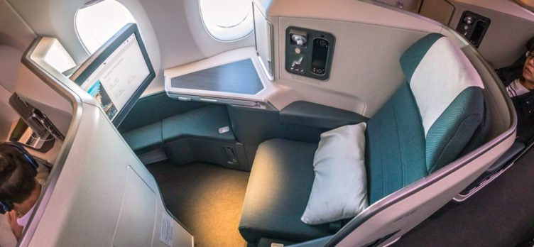 Cathay Pacific Airbus A350 Business Class Window Seat