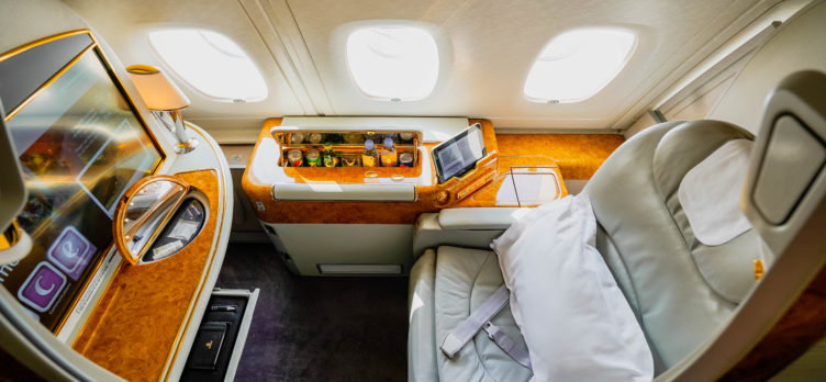 Emirates A380 First Class Window Suite