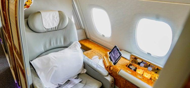 Emirates Inaugural World's Shortest A380 First Class Window Suite Cherag Dubash