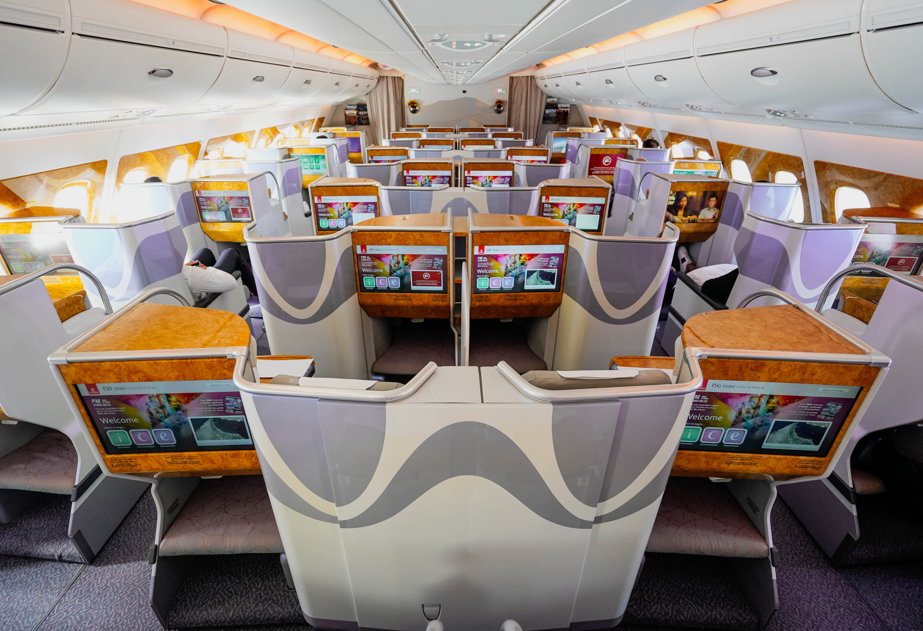 Emirates Inaugural World S Shortest A380 Flight Review Business