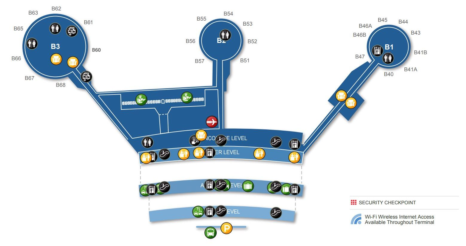 ewr map terminal a Newark Liberty International Airport Ewr Terminal Guide 2020 ewr map terminal a