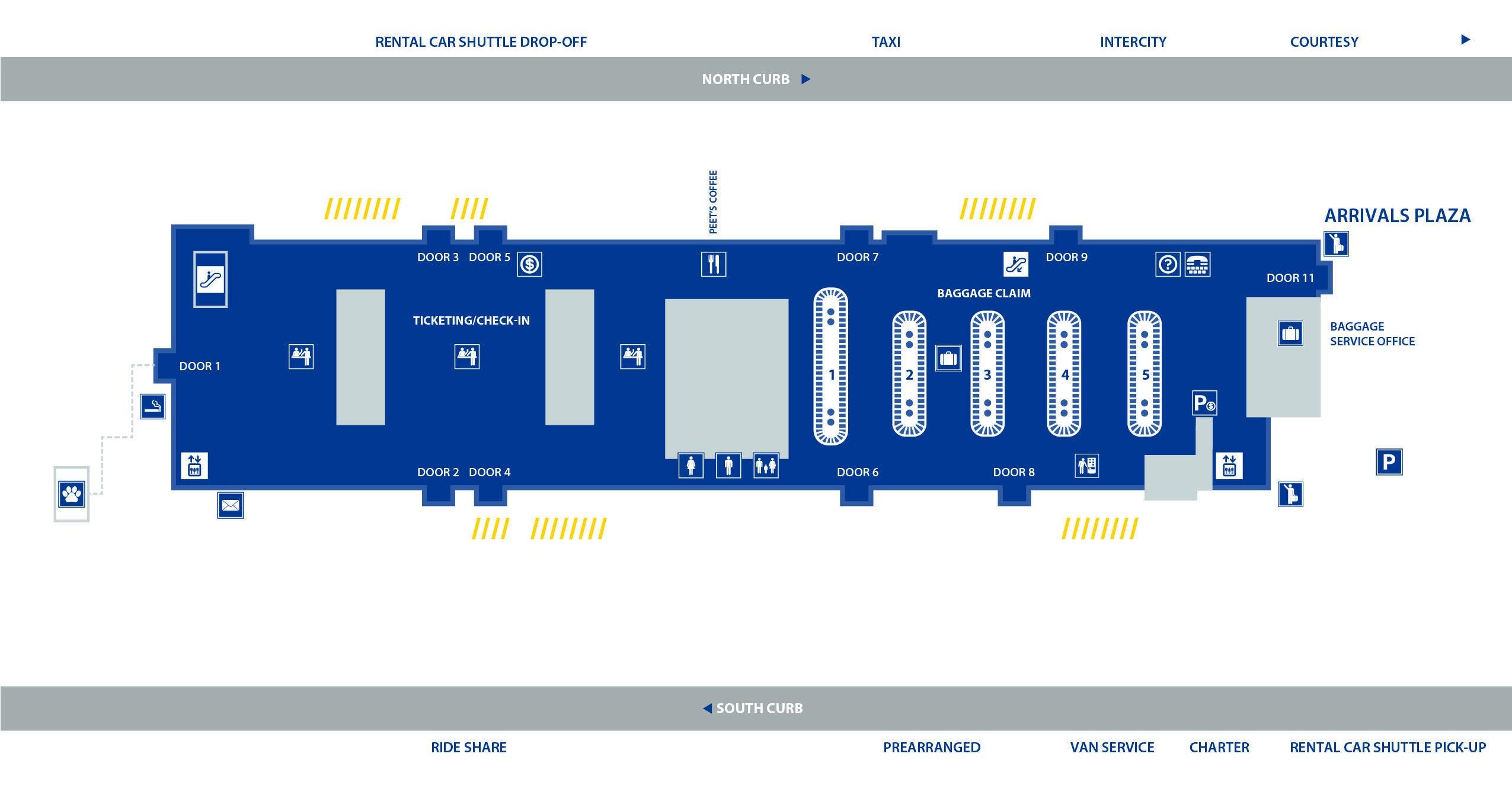 phx map terminal 4 Terminal 4 Phoenix Sky Harbor Airport Map phx map terminal 4