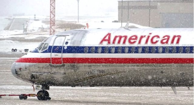 Plane in Bad Weather