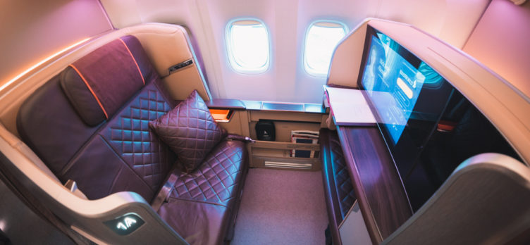 Greg Stone - Singapore Airlines Boeing 777 First Class - Side On