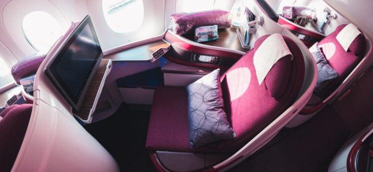 Greg Stone - Qatar Airways Airbus A350 Business Class - Window Seats