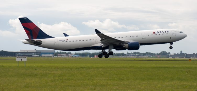 Delta Air Lines Plane Taking Off