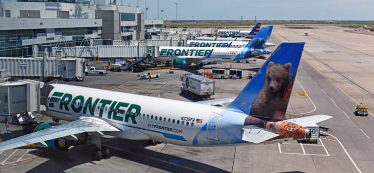 Frontier Airlines Planes at Denver Airport