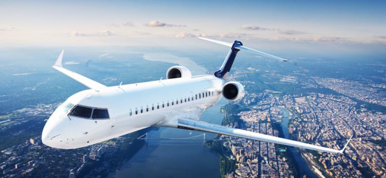 Private Jet Over Manhattan