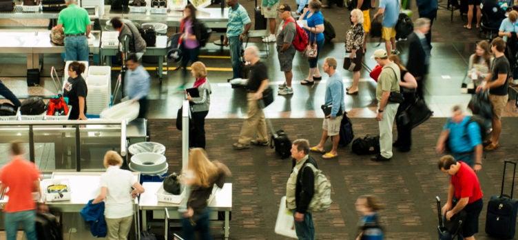 TSA Security Airport Line