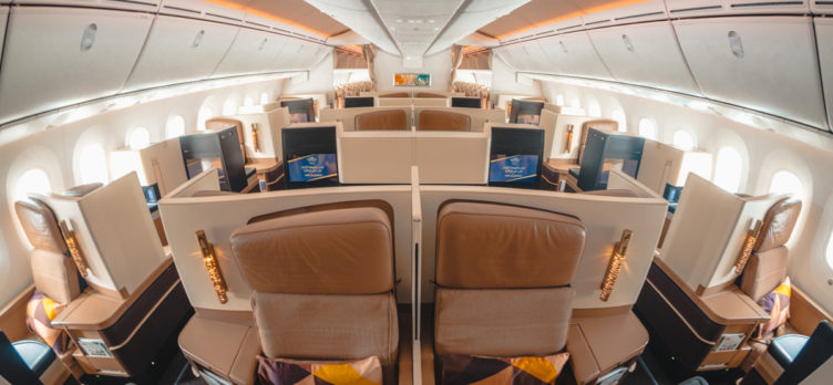 Etihad Airways Boeing 787-9 Business Class Main Cabin