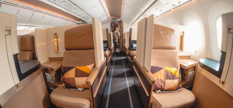 Etihad Airways Boeing 787-9 Business Class Aisle Seats