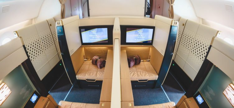 Etihad Airways Boeing 787-9 First Class Middle Seats