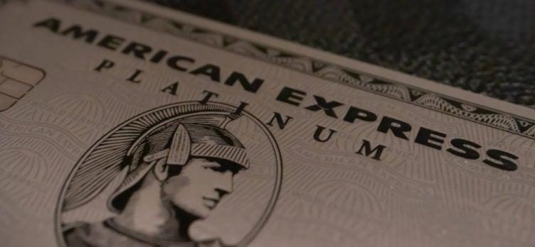 American Express Platinum Card Close Up