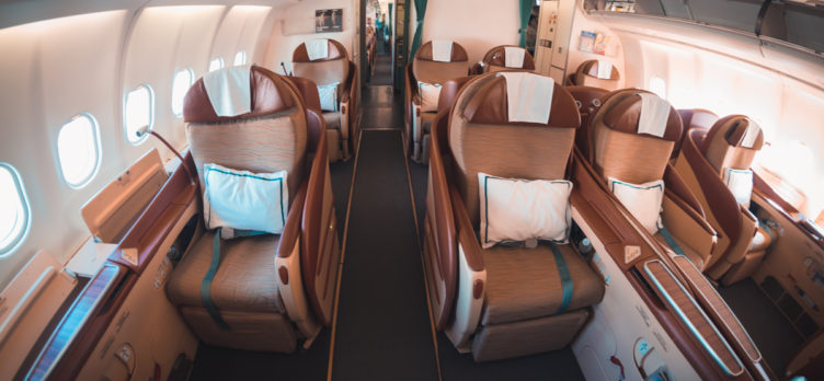 Greg Stone. Oman Air Airbus A330 Old Business Class Cabin