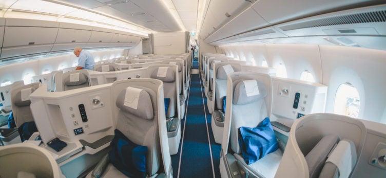 Finnair Airbus A350 Business Class Forward Cabin