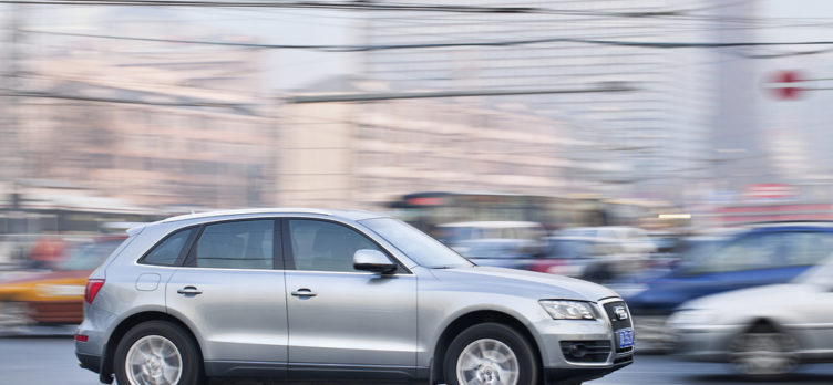 Audi Q5 Driving in A City