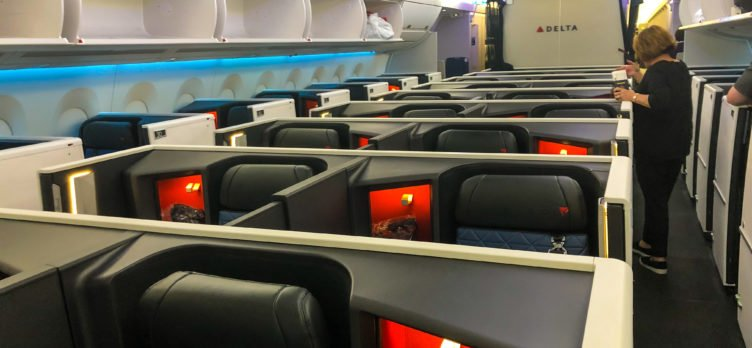 Delta One Suites A350-900 cabin