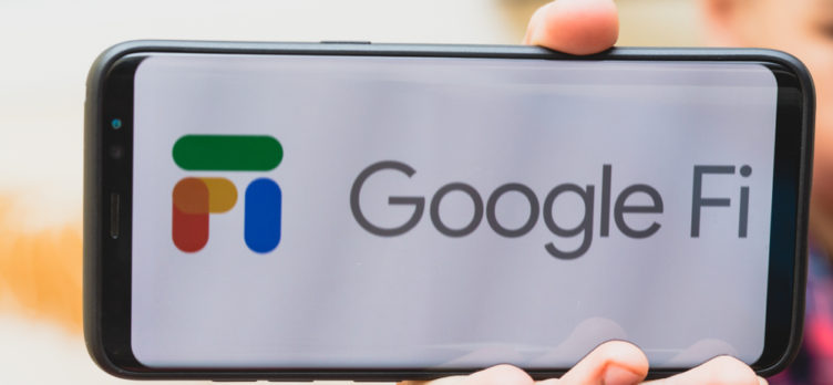 Hand Holding A Google Fi Smartphone