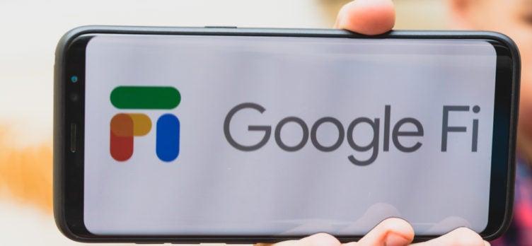 Hand Holding A Google Fi Smartphone
