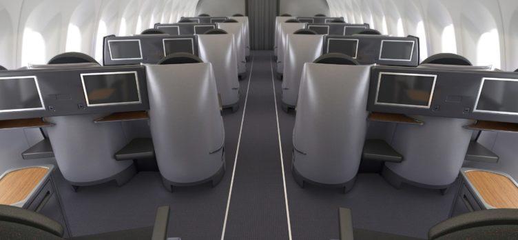 AA A321T Business Class Rear