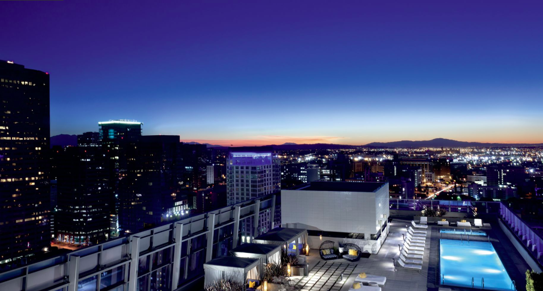 Relax by the pool and watch the sunset at the Ritz-Carlton, Los Angeles. Image Credit: Marriott