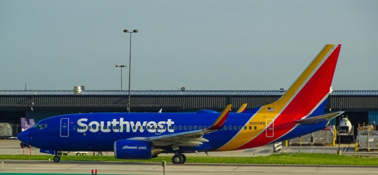 Southwest Airplane On An Airport Runway
