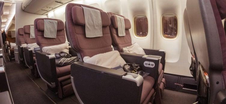 Qantas Boeing 747 Premium Economy Window Seats