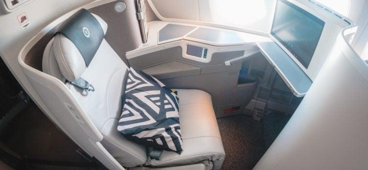 Fiji Airways Airbus A350 Business Class Seat Controls