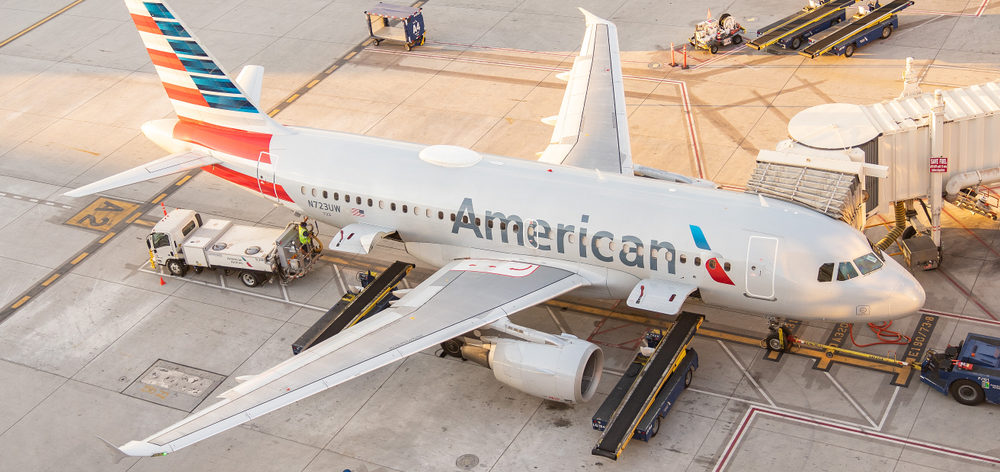 An American Airlines Plane in Phoenix