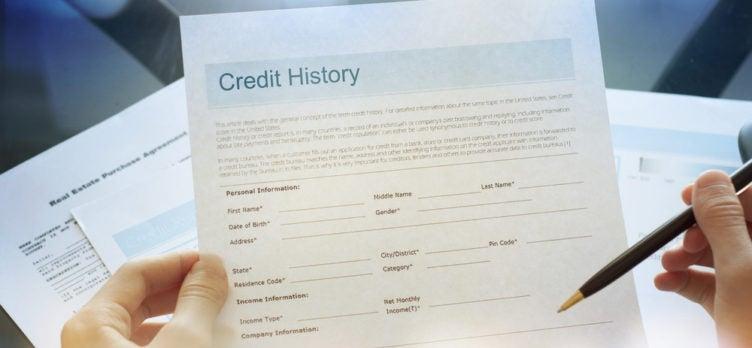 Credit Report History