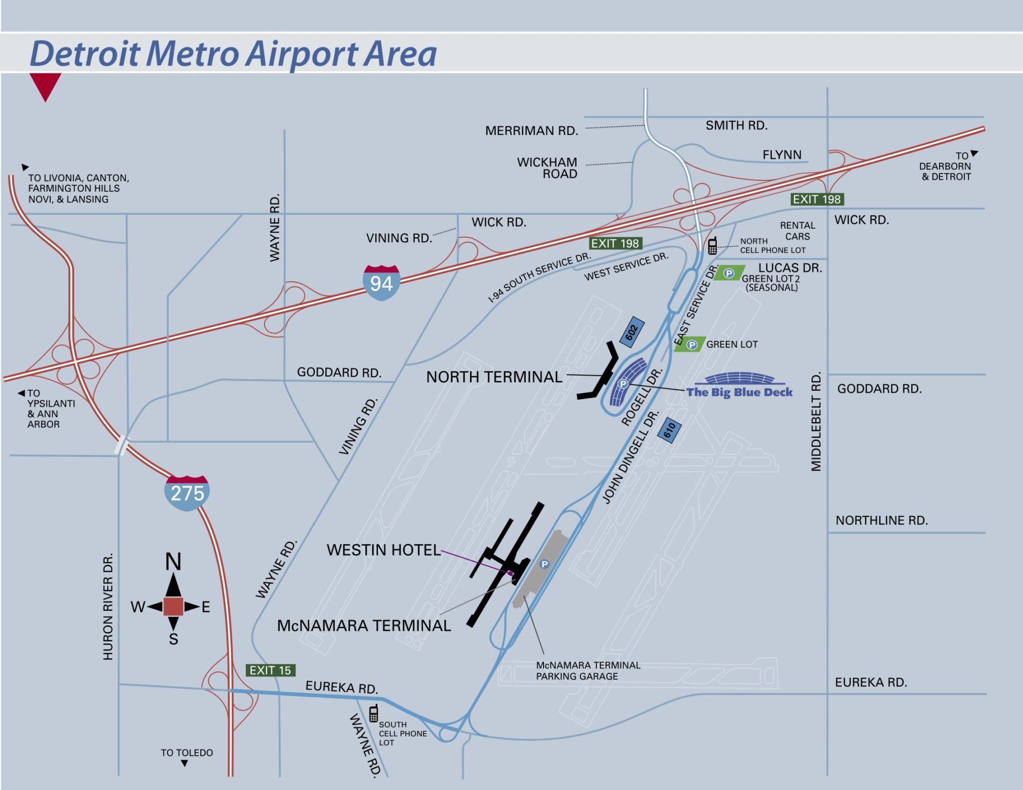 dtw north terminal map Detroit Metropolitan Wayne County Airport Dtw Terminal Guide dtw north terminal map