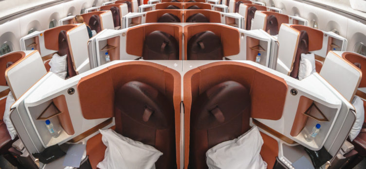 Virgin Atlantic Airbus A350 Upper Class Cabin from Front