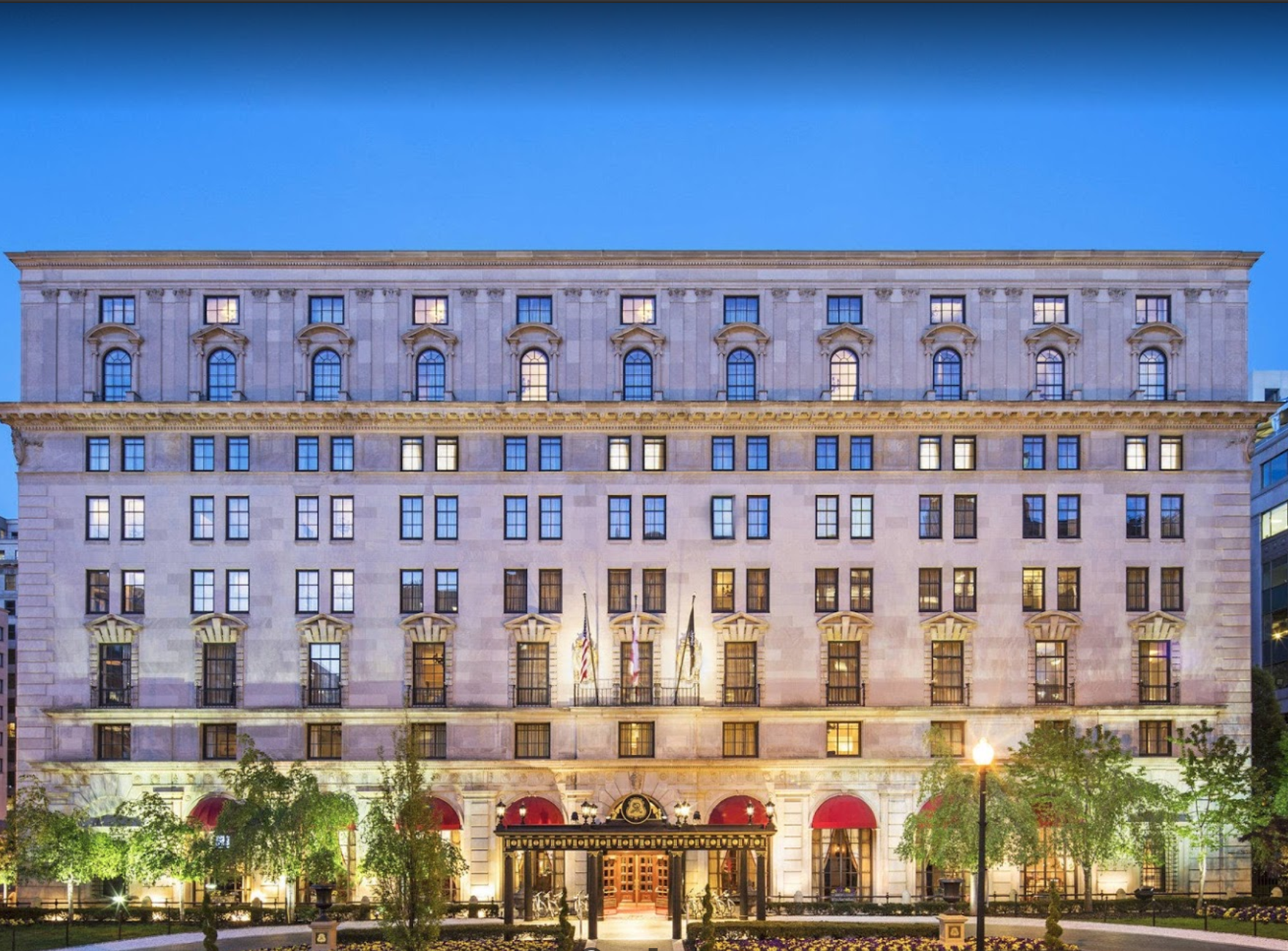 The St. Regis Washington D.C. night exterior
