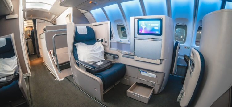 British Airways Boeing 747 Club World Business Class Seat 63B