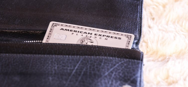Amex Platinum in a Leather Wallet